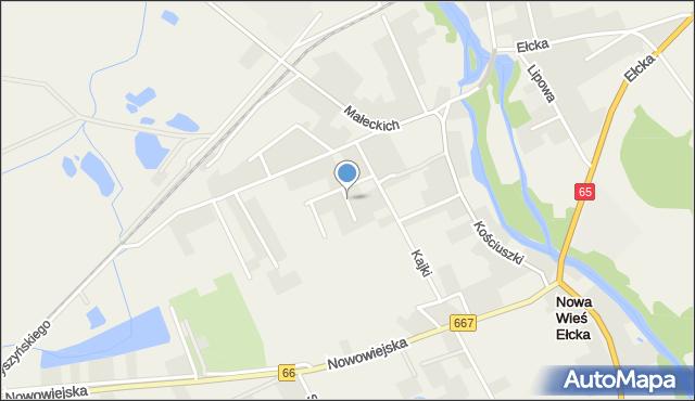 Nowa Wieś Ełcka, Prusa Bolesława, mapa Nowa Wieś Ełcka