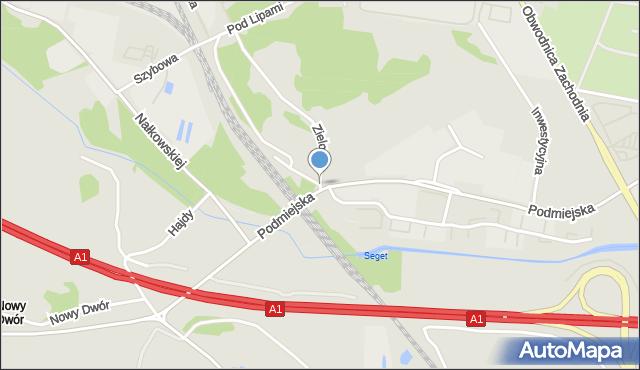 Piekary Śląskie, Przy Dworcu, mapa Piekary Śląskie