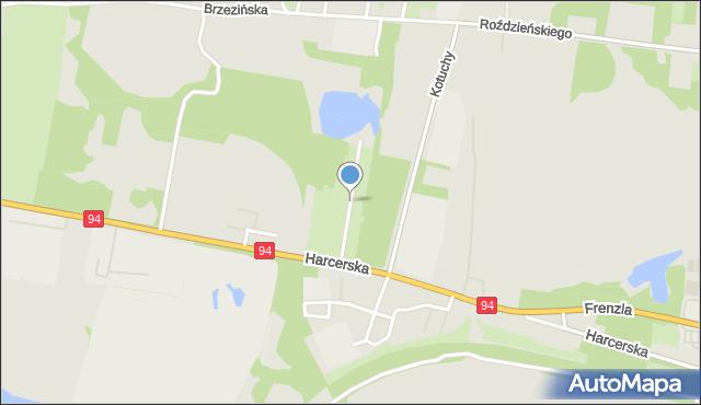Piekary Śląskie, Przemysłowa, mapa Piekary Śląskie
