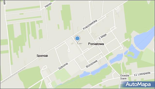 Poniatowa powiat opolski, Przechodnia, mapa Poniatowa powiat opolski