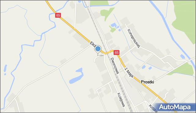 Prostki, Prostki, mapa Prostki