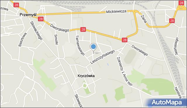 Przemyśl, Prusa Bolesława, mapa Przemyśla