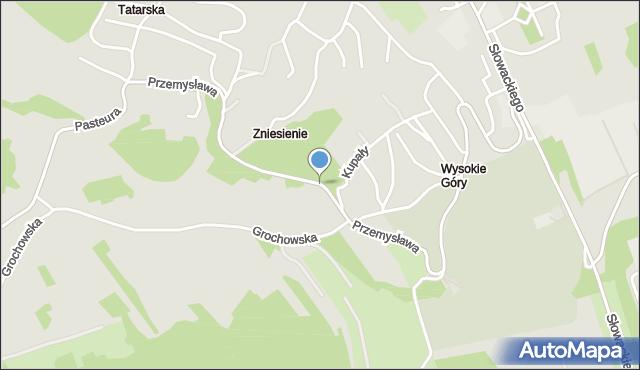 Przemyśl, Przemysława, mapa Przemyśla