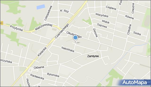 Radom, Przeskok, mapa Radomia