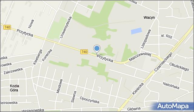 Radom, Przytycka, mapa Radomia