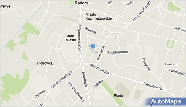 Radom, Przyborowskiego Walerego, mapa Radomia