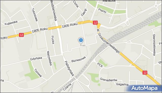 Radom, Przemysłowa, mapa Radomia