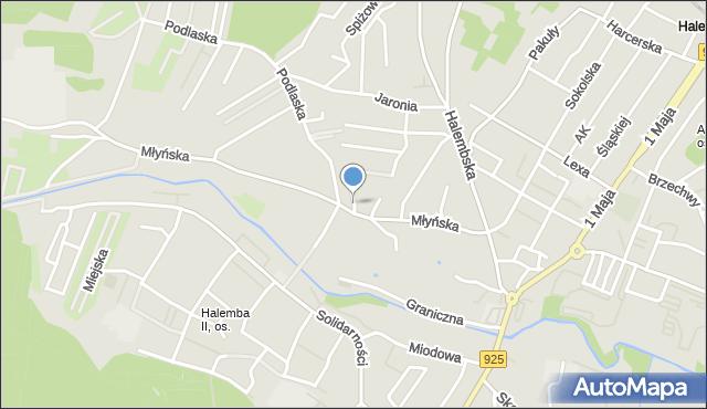 Ruda Śląska, Przyjaźni, mapa Rudy Śląskiej