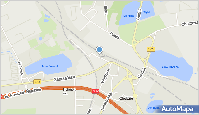 Ruda Śląska, Przedtorze, mapa Rudy Śląskiej