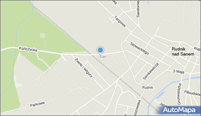 Rudnik nad Sanem, Przy Torach, mapa Rudnik nad Sanem