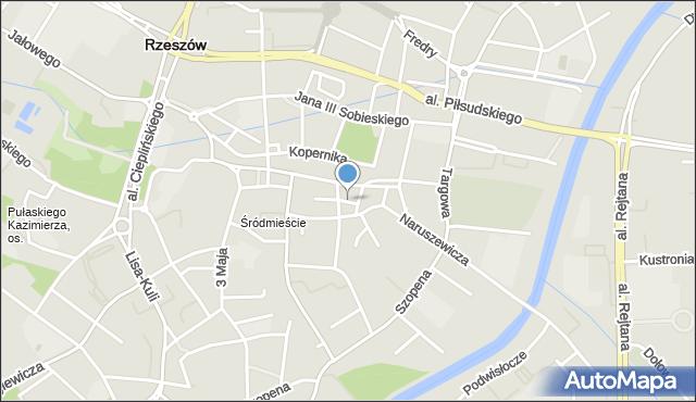 Rzeszów, Przesmyk, mapa Rzeszów