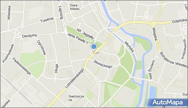 Słupsk, Prosta, mapa Słupska
