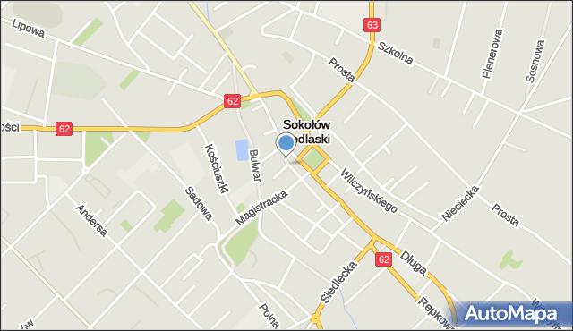 Sokołów Podlaski, Próżna, mapa Sokołów Podlaski