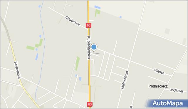 Sokołów Podlaski, Prusa, mapa Sokołów Podlaski
