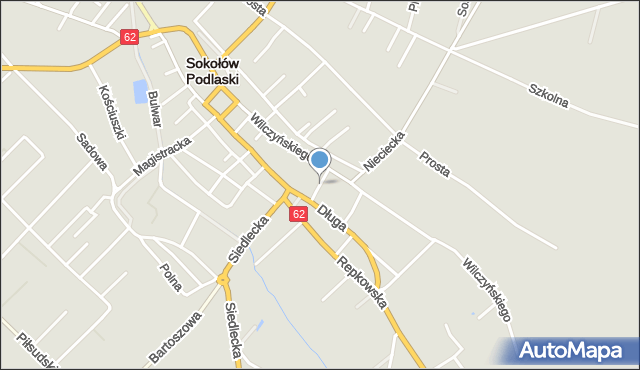 Sokołów Podlaski, Przechodnia, mapa Sokołów Podlaski
