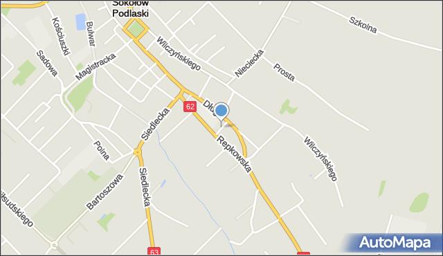 Sokołów Podlaski, Przeskok, mapa Sokołów Podlaski