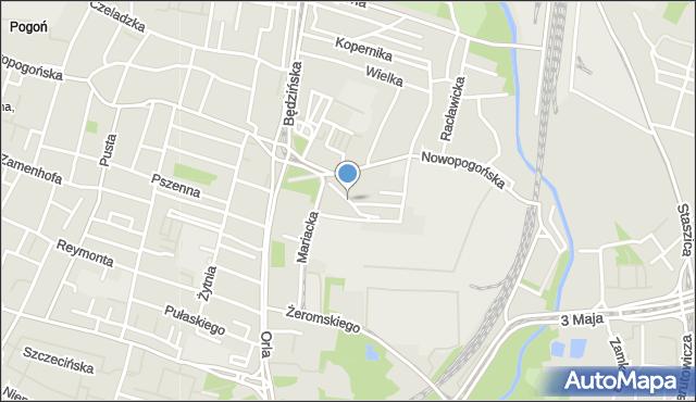 Sosnowiec, Przechodnia, mapa Sosnowca