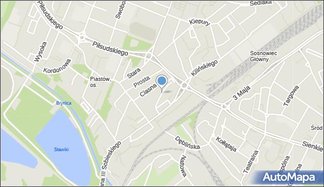 Sosnowiec, Przejazd, mapa Sosnowca