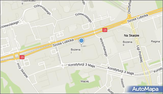 Toruń, Prejsa Juliana, mapa Torunia