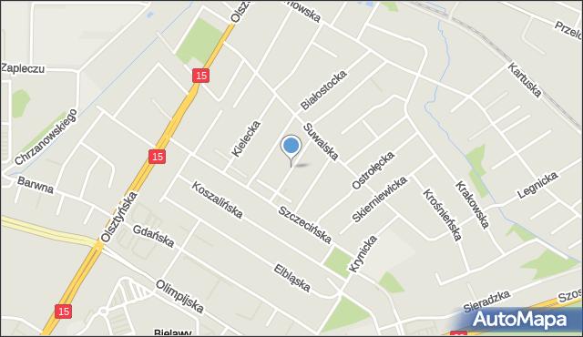 Toruń, Przemyska, mapa Torunia