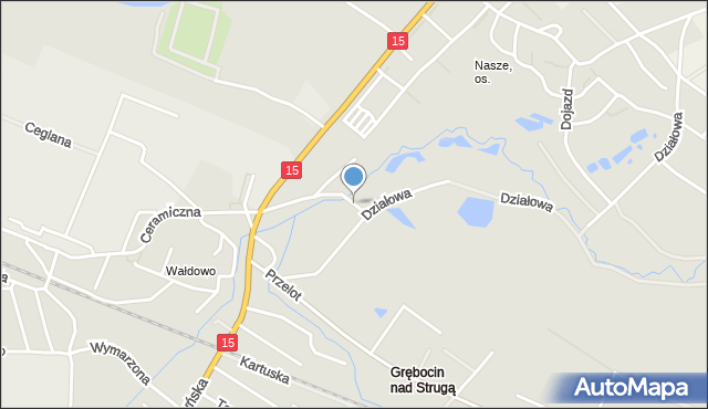 Toruń, Przeskok, mapa Torunia