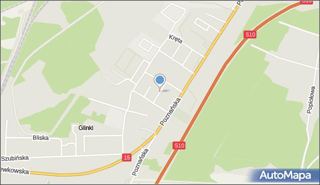 Toruń, Przesmyk, mapa Torunia