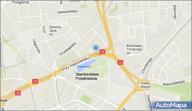 Toruń, Przy Kaszowniku, mapa Torunia