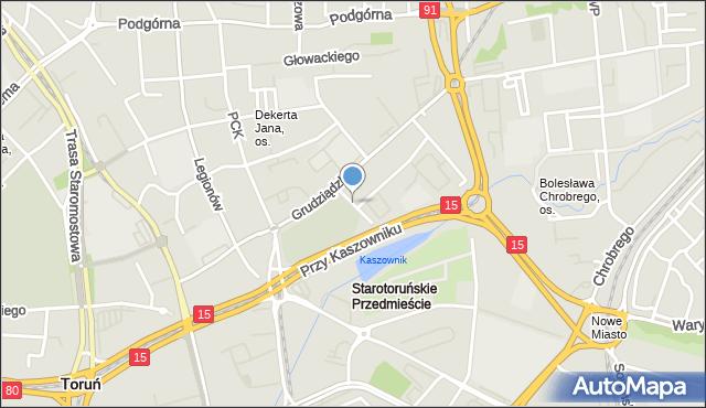 Toruń, Przy Rynku Wełnianym, mapa Torunia