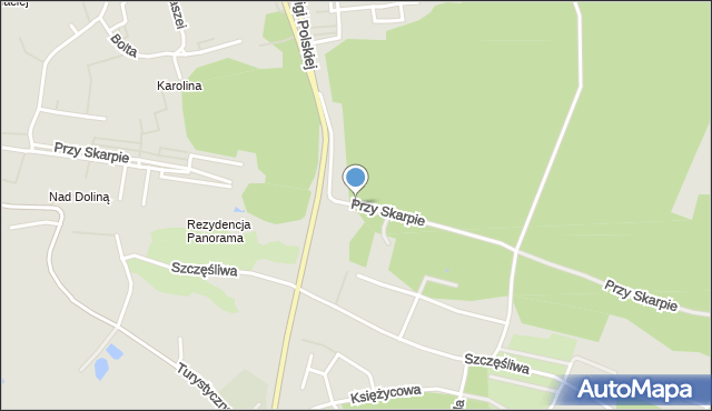 Toruń, Przy Skarpie, mapa Torunia