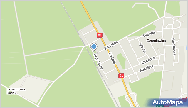Toruń, Przy Torze, mapa Torunia