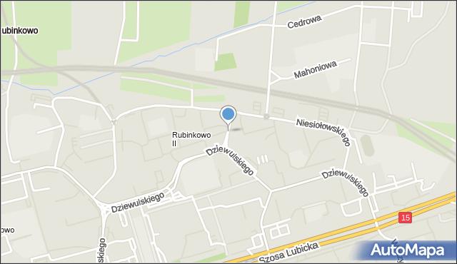 Toruń, Przybyłów Janiny i Eugeniusza, mapa Torunia