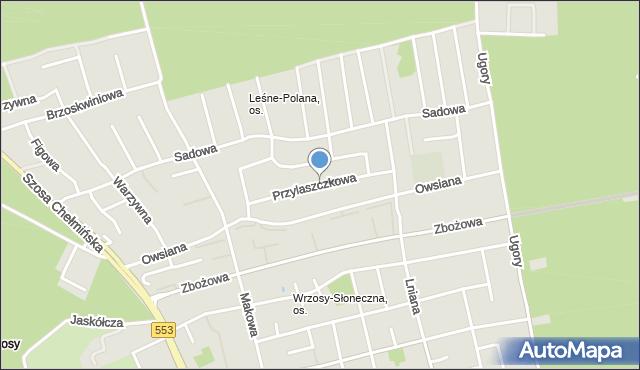Toruń, Przylaszczkowa, mapa Torunia