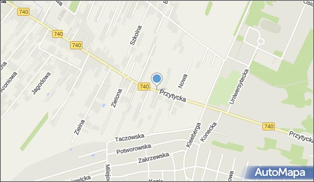 Wacyn, Przytycka, mapa Wacyn