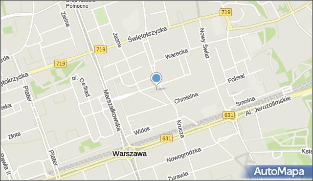 Warszawa, Przeskok, mapa Warszawy