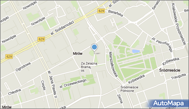 Warszawa, Przechodnia, mapa Warszawy