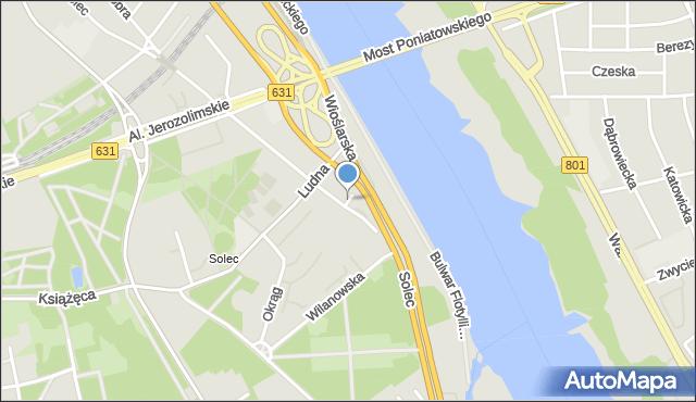 Warszawa, Przystaniowa, mapa Warszawy