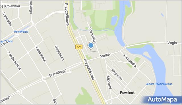 Warszawa, Przedatki, mapa Warszawy