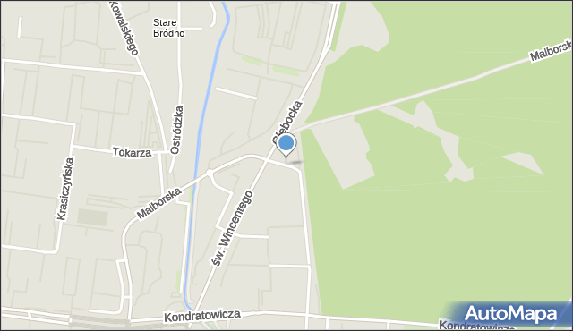 Warszawa, Przy Grodzisku, mapa Warszawy