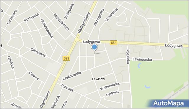 Warszawa, Przewoźników, mapa Warszawy