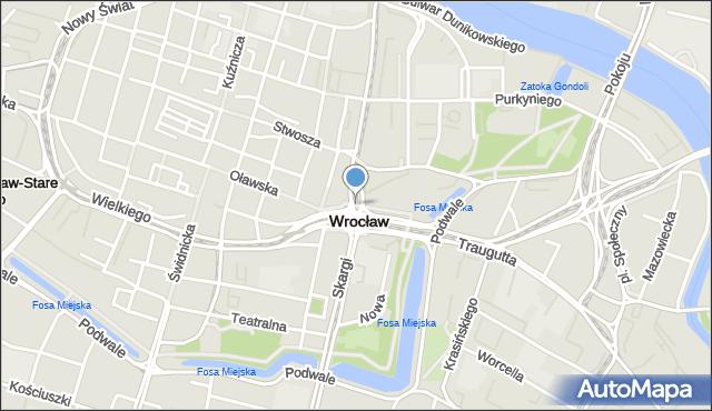 Wrocław, Przejście Winogronowe, mapa Wrocławia