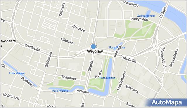 Wrocław, Przejście Słodowe, mapa Wrocławia