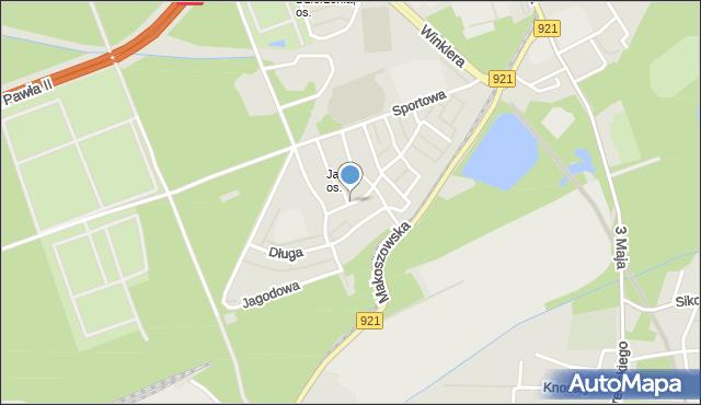 Zabrze, Promienna, mapa Zabrza