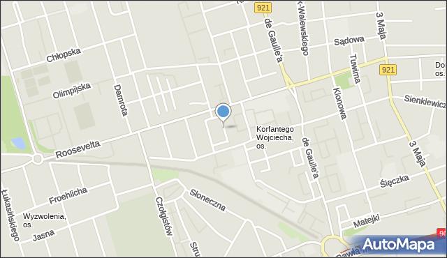 Zabrze, Przelotowa, mapa Zabrza