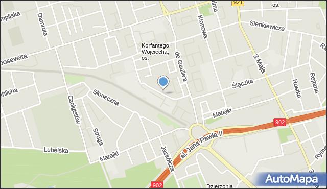 Zabrze, Przemysłowa, mapa Zabrza