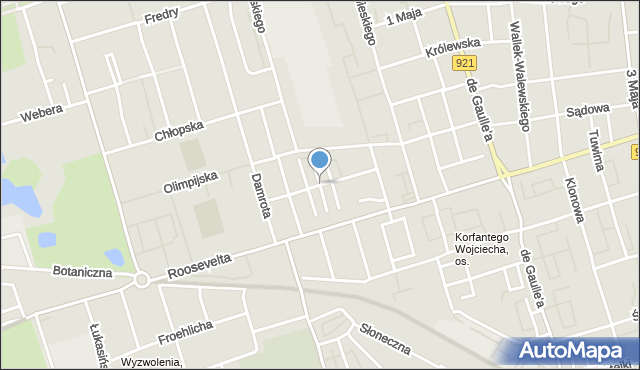Zabrze, Przerwy-Tetmajera Kazimierza, mapa Zabrza