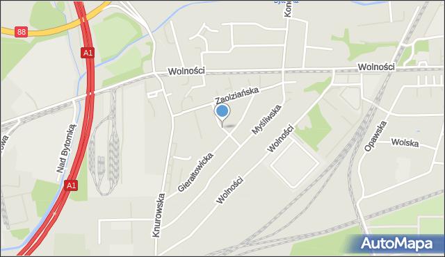 Zabrze, Przyszowicka, mapa Zabrza