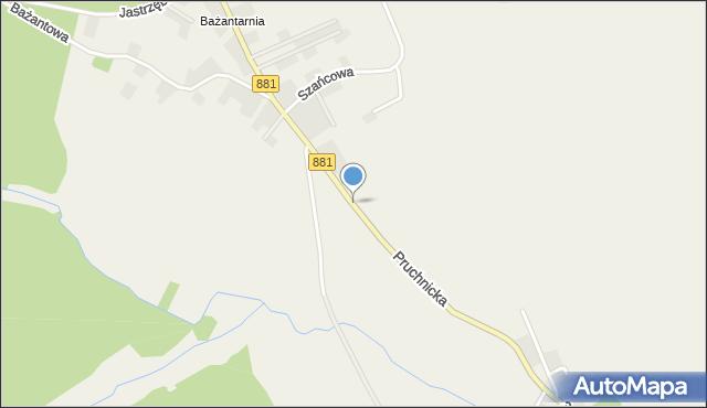 Żurawica powiat przemyski, Pruchnicka, mapa Żurawica powiat przemyski