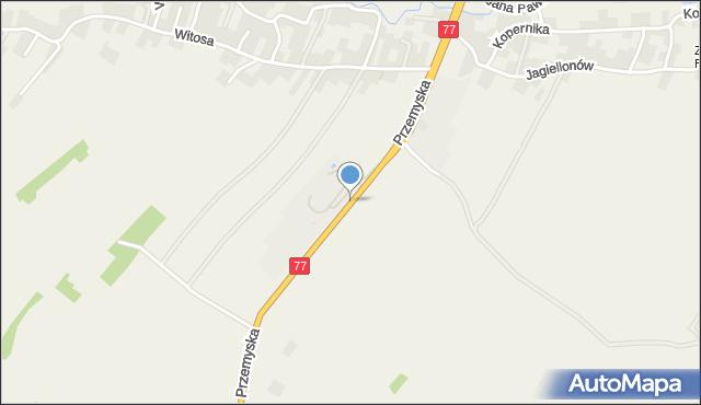 Żurawica powiat przemyski, Przemyska, mapa Żurawica powiat przemyski