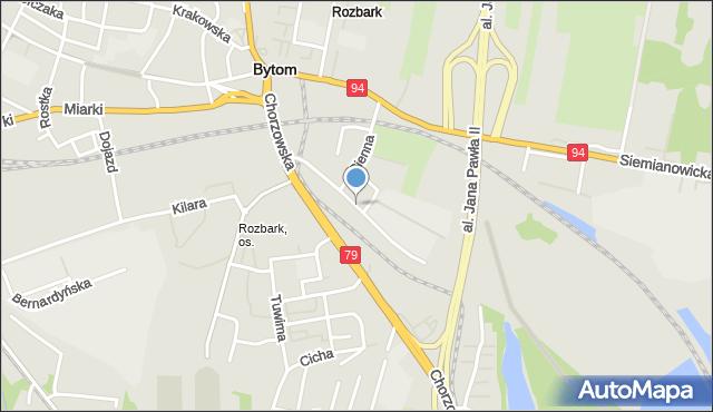 Bytom, Pszczyńska, mapa Bytomia