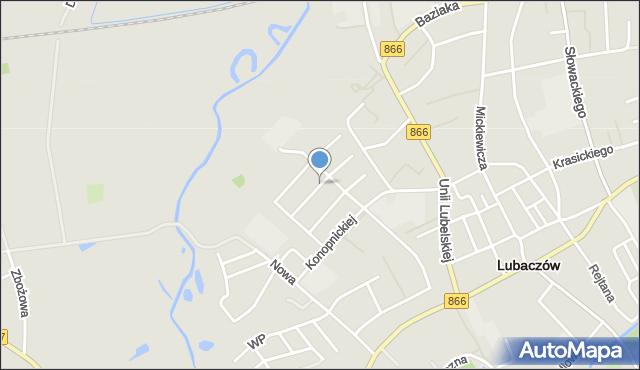 Lubaczów, Pszennego, mapa Lubaczów